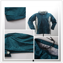 Water resistant Nylon rainsuit