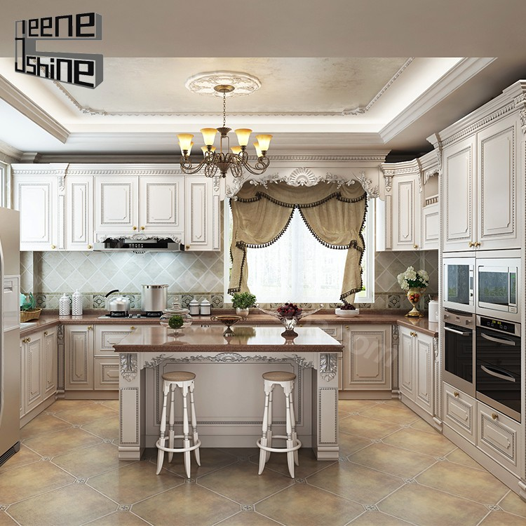 China factory wholesale waterproof cheap white solid wood for White solid wood kitchen cabinets