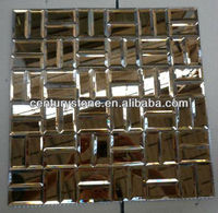 Five facets diamond gold mirror crystal glass mosaic tile