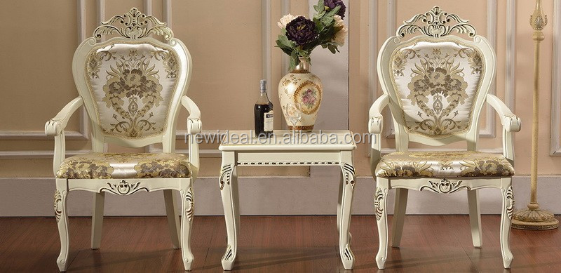 Wooden tea table and chairs set (NG2893-G&NG2878A-G)