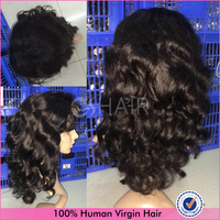 Fast shipping indian natural loose wave human hair full lace wig very low price