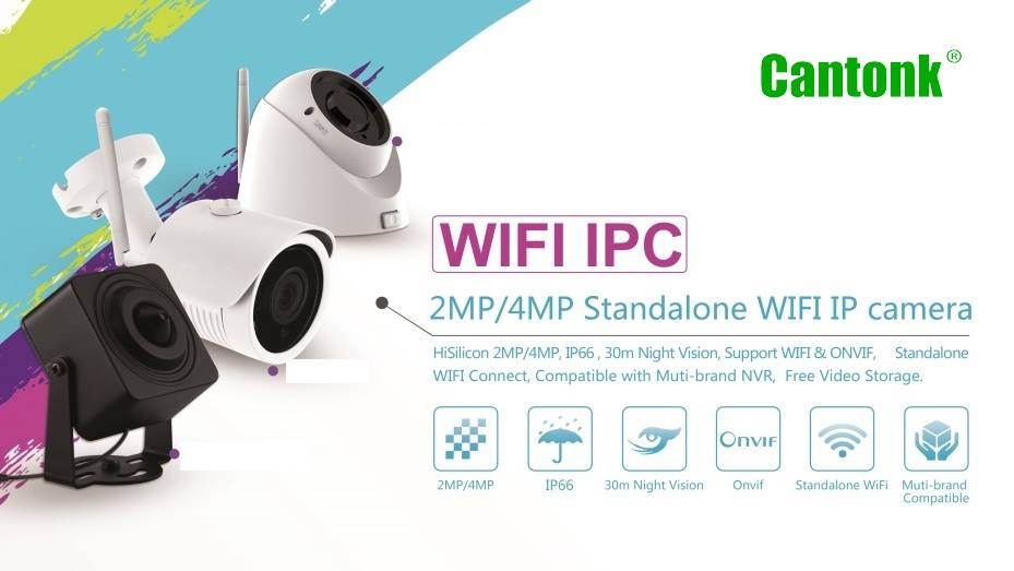 Cantonk h.265+ P2P outdoor hd 1080P mini Auto Focus IP camera with rj45