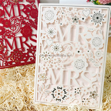 Mr.&Mrs. laser cut wedding invitation card