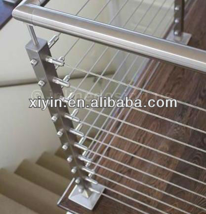 stainless steel cable handrail for stairs