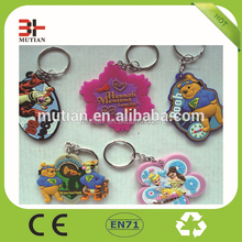 soft pvc rubber keychain, cheap custom trolley coin keyring wholesale