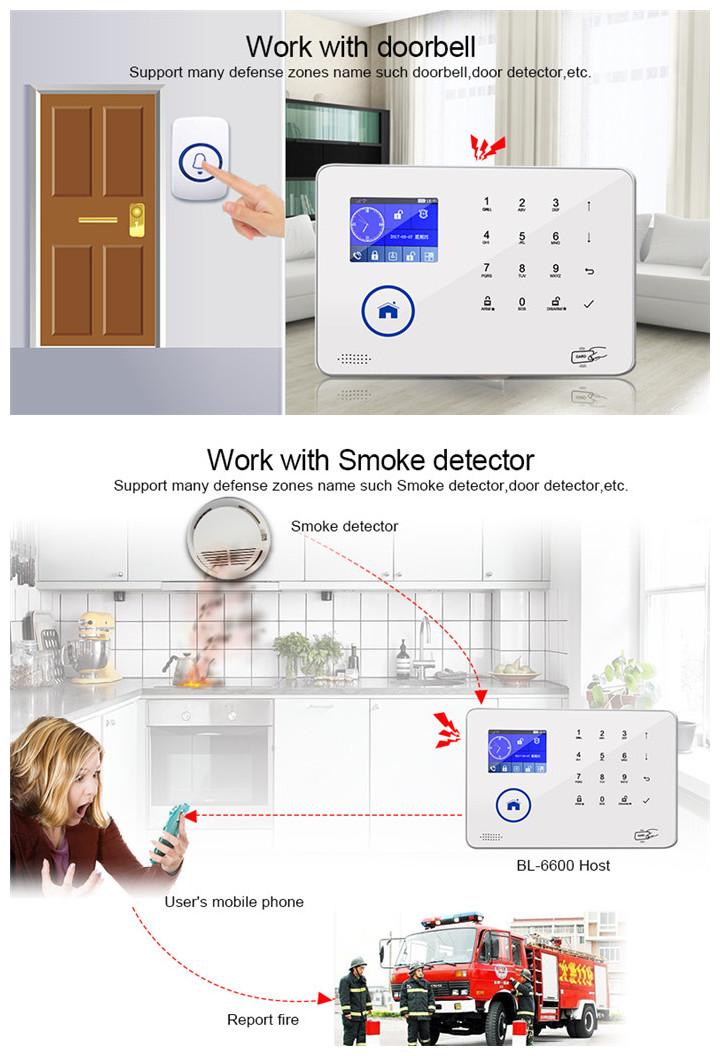 Power Saving RFID Card Touch Panel Alarm GSM +PSTN Smart Burglar Home Security Alarm System