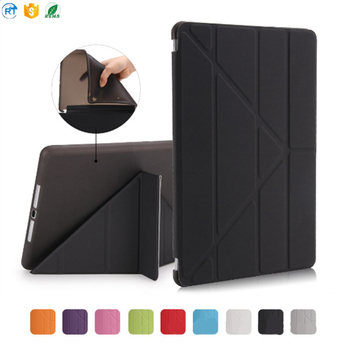 New Generation 2017 ultra thin Folding PU Leather Flip Smart cover for ipad 9.7 10.5 2017 tablet case