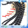 4-16mm Lucky Energy Black Lava Stone Beads