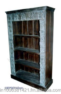 Indian wooden hand craved beautiful tribal book case