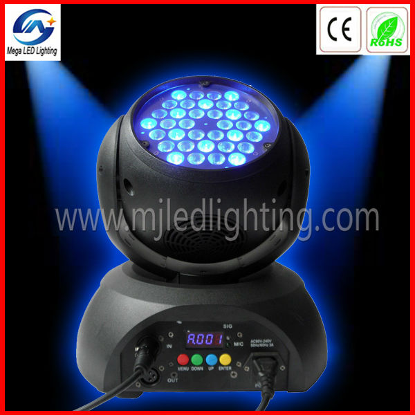Pro 36pcs 3W <strong>LED</strong> motorized stage lighting moving head pay pal