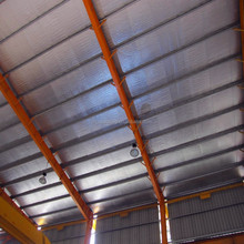 High Reflective Aluminum foil bubble heat insulation material with blue coating and woven for roof or wall