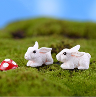 fairy garden miniatures Cartoon cute little rabbit doll mini DIY mini garden