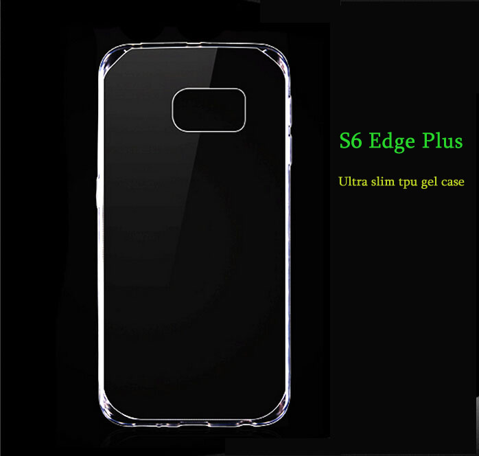 Premium invisible Soft ultra thin slim clear tpu case for galaxy s6 Edge Plus in 0.33mm thickness only ship in 48hours