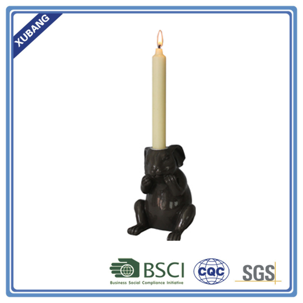 Resin Sitting rabbit candle holder