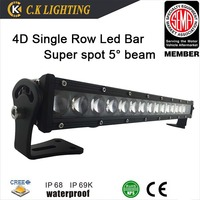 DC9-32V Single row 120w 4D new offroad led light bar with philips chip