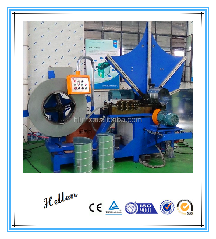 round duct elbow making machine spiral concrete tube pipe culvert duct forming machine