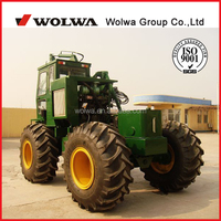 4wheel sugarcane loader excavator with grab weight 1000kg for sugar refinery