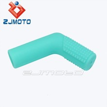 "ZJMOTO Parts Motorcycle Cyan Rubber Shift Sock Boot Shoe Protector Shifter Cover Sportbike 3/4"" wide 2"" long Rubber Shift Socks"