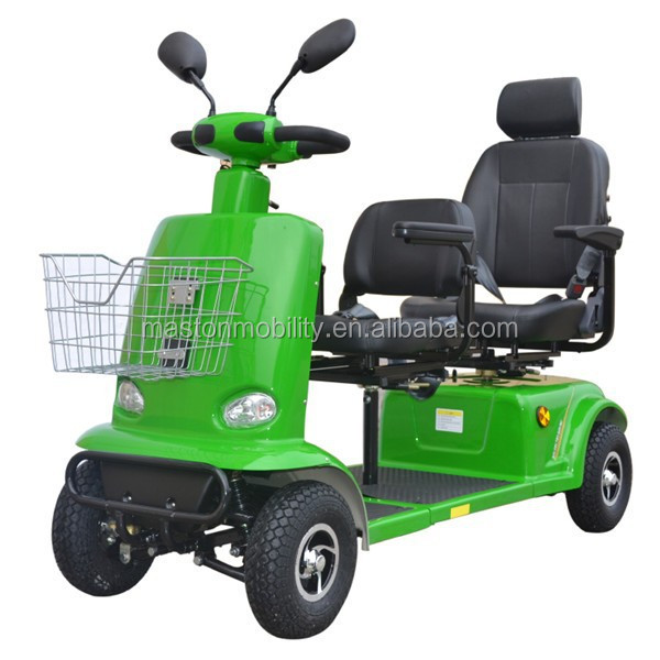 2016 new style four wheels 2 person seats disabled person electric mobility scooter