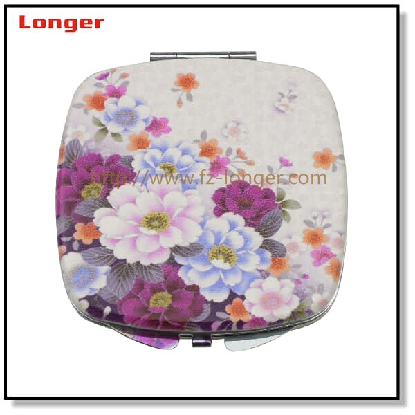 New cosmetic pocket metal mirror makeup custom compact mirror