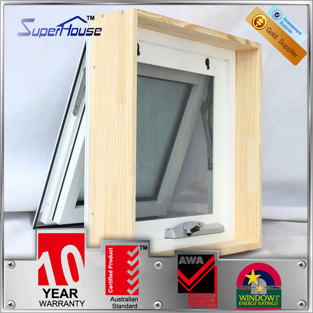 AS2047 aluminum shed window/double glass chain wider awning window with timber reveal