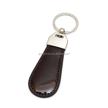 Promotional Embossed Logo Genuine Leather Car Keychain High Quality Keyring for Key