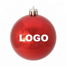 Custom 6cm LOGO Novelty Christmas Baubles