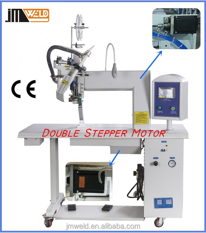 Double Stepper Motor Hot Air Seam Sealing Machine For Shoes Lining