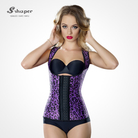 S-SHAPER 2016 Animal Print Latex Girdle Vest With Strap