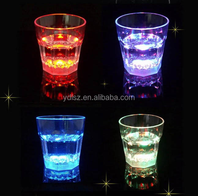 LED flash glass for evening party and christmas gift