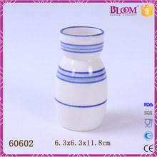 white small ceramic milk bottle unique shape vases