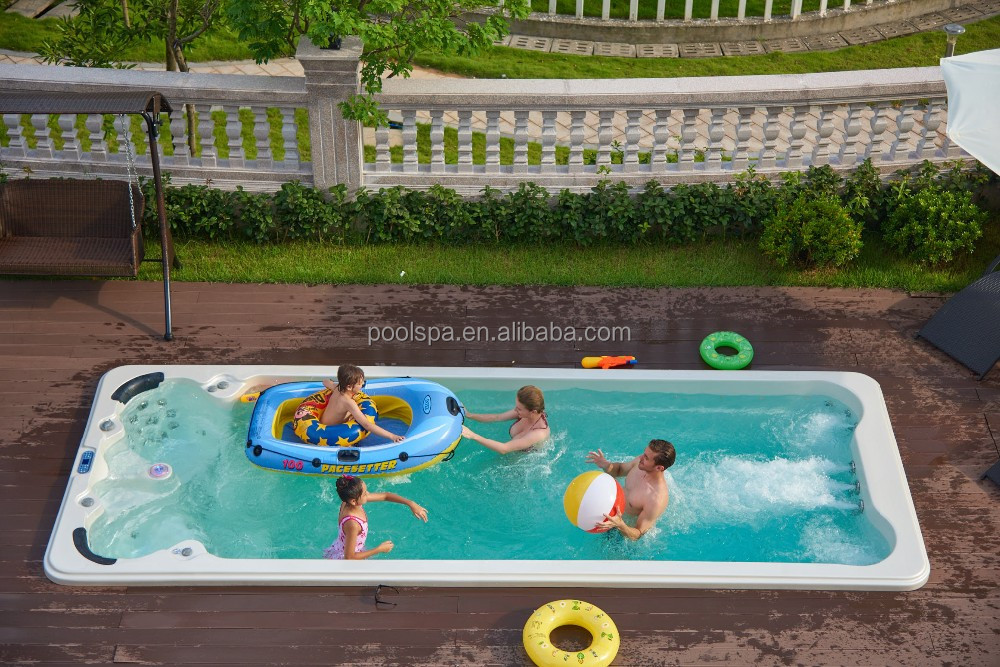 2 seats and 1lounger unique design UAS balboa system large pool swim spa