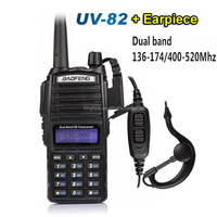 Best Selling Interphone 136-174MHZ 400-520MHZ 5W 128CH Dual Band UHF VHF Handheld Two Way Radio Baofeng UV-82 Bao feng