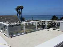 outdoor glass banisters and railings