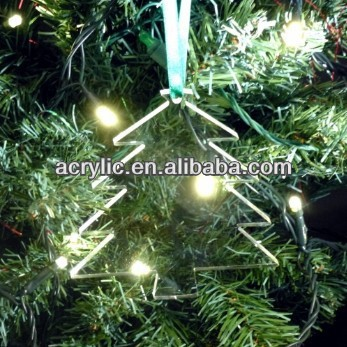 laser cutting 2013 christmas hanging tree decoration