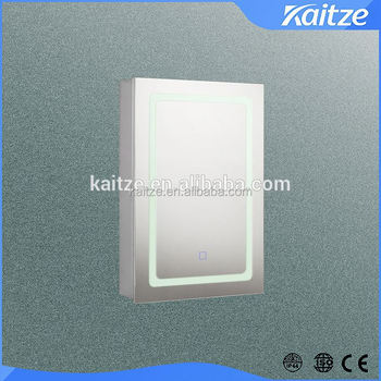 LED Lighted Bathroom Cabinet For Europe Marketmodern Illuminated Mirror With Glass Shelves