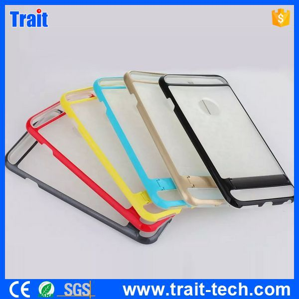 TPU Hybrid Back Case with Kickstand for iPhone 6 ,Case for iphone 6 5.5 inch