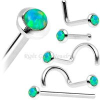 Nickel Free Body Jewelry Attractive Designs Opal Nose Stud