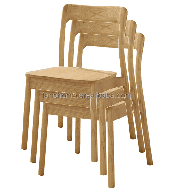 high quality japanese style cafe restaurant stackable wood relaxing chair