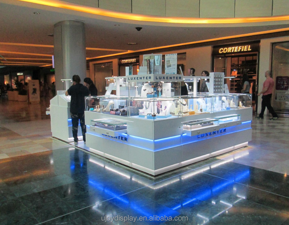 modern custom design mall kiosk for jewelry