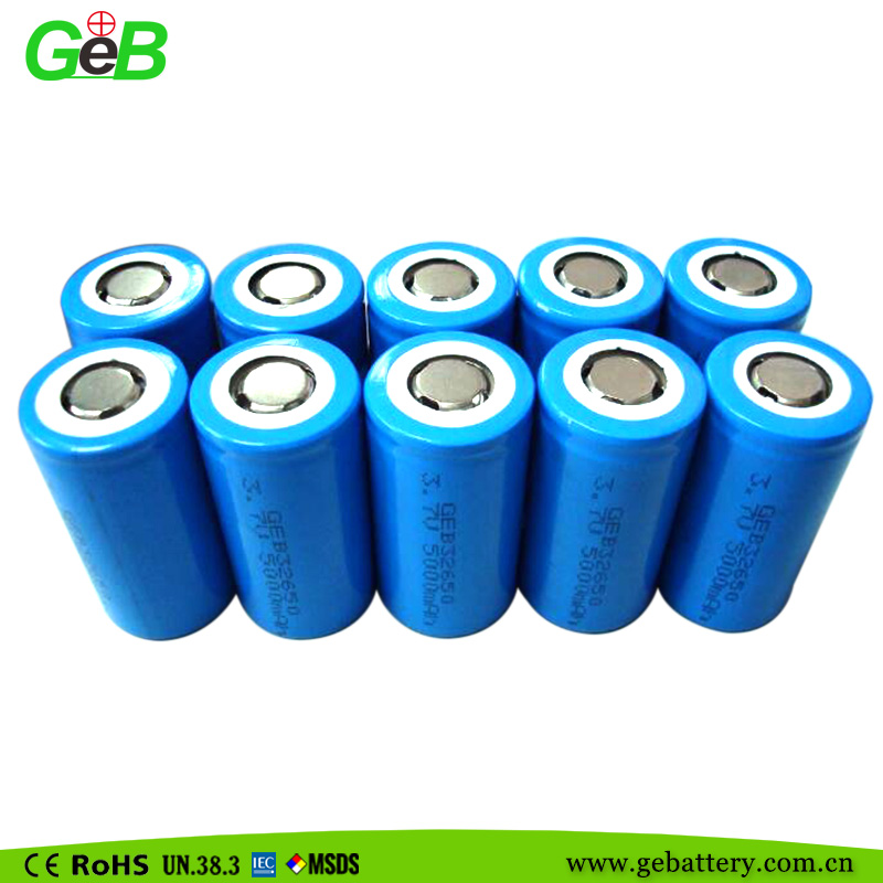 32650 3.7V 5000mAh Cylindrical Li-ion Rechargeable Battery