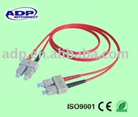 SC-SC Duplex Fiber Optic Jumper/fiber optic patch cord/Optical Fiber Cable