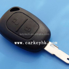 Renault designer car key blanks case with 2 buttons remote key