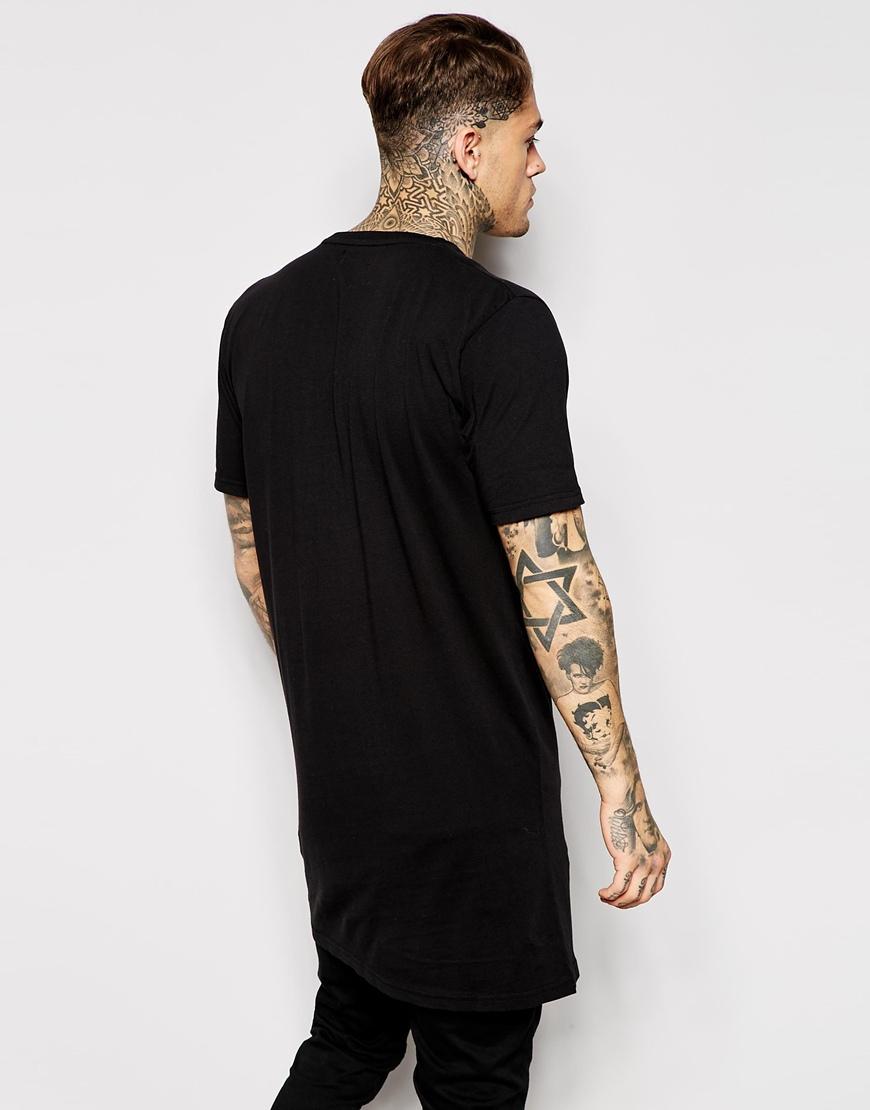 Design your own t-shirt long sleeve - Mens Hip Hop Clothing Custom T Shirt Printing Design Your Own Logo Longline T Shirt Retail