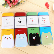 China factory price wholesale fancy pencil box good quality metal pencil case cute animal shaped pencil case