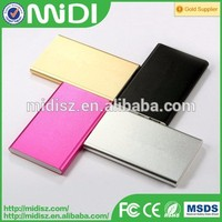 Very Thin slim colorful portable powerbank for laptops mobile power for smart phone with USB port 10400mAh capacity for tablets