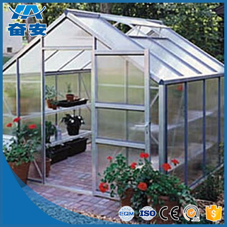 Low Cost Aluminum Greenhouse Profile Supplier For Aluminum Pergola Tunnel Greenhouse
