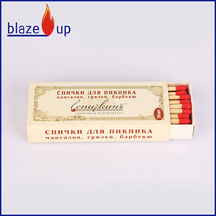 Custom cigar matches/wooden safety matches/grill matches