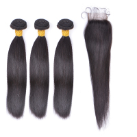 wholesale Factory real straight human hair weave bundles Raw Indian Hair