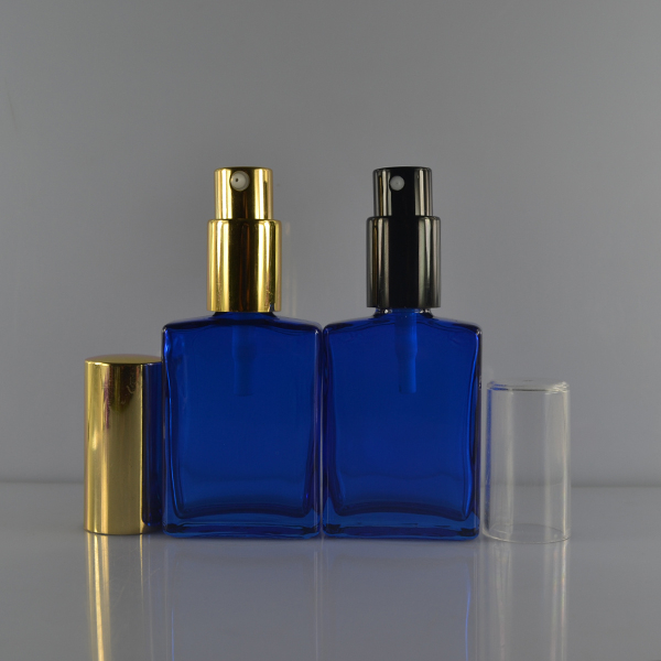 Competitive price square glass bottle blue for men perfume 30ml